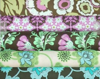 Amy Butler - Daisy Chain Quilting cotton fabric bundle - Fat Quarter set of 5