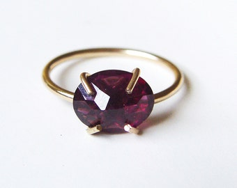 Ruby Gold Ring Rose Cut