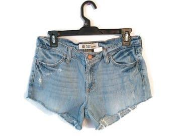 Vintage GAP jean shorts size 8 cut off frayed distressed denim