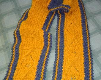 0067 Unisex Scarf Pattern,Diamond Leaf Scarf,Winter Scarf Pattern,Knit Pattern by CarussDesignZ