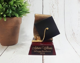 Graduation Resin Award - Diploma and Cap Resin Trophy - Commencement Award - Free Personalization