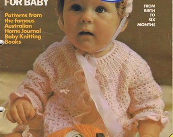 Vintage Home Journal HAND KNITS for BABY knitting pattern book Christening set