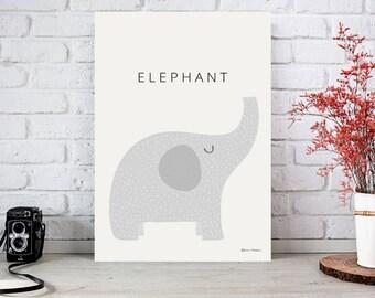 Elephant Kids Room A4 Art Print