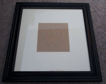 Framed Wire Heart - Customizable Background and Shape