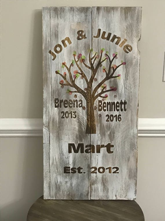 Family Tree, Home Decor Wall Decor, Christmas Gifts, Rustic Home Signs, Wood Signs, Farmhouse Wood Decor, Newly Wed Christmas