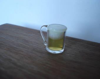 Miniature beer glass, dollshouse beer, miniature food, dollshouse pub, dollshouse drink
