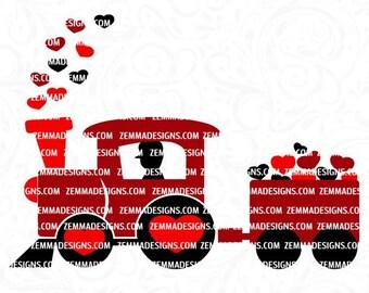 boy valentine svg, Valentine svg files, Valentine svg, Valentine dxf, Valentine clip art, boy svg files, train svg, Valentine train svg