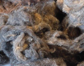 Raw wool by the Herdwick sheep, washed