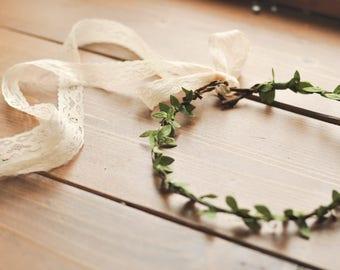 Leafy Woodland Hair Wreath | Flower Crown | Leafy Greens Delicate Hair Piece | Wedding | Cosplay | Made to Order Greenery Crown Wreath