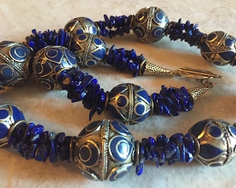 Kazakh Beads Lapis Necklace