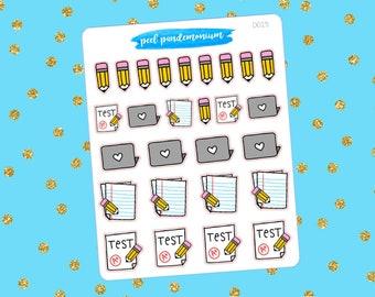 School Doodle Sampler Planner Stickers (D015)