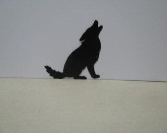Coyote Howling 003 Wildlife Metal Rustic Cabin Art Silhouette
