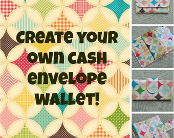 Create Your Own Custom Cash Envelope Budgeting Wallet Happy Circles and Diamonds