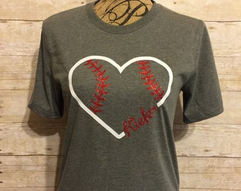 Heart with laces and team name