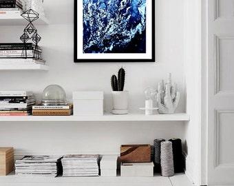 Waves VII Print (Paint, Acrylic, Abstract, Fluid Painting, Wall Art, Home Decor, Unframed or Framed print)