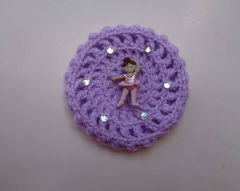X-SMALL Bun Cover with Rhinestones and Adornment, Many Colors, Crochet Bun Cover, Bun Wrap, Bun Holder, Snood, Ballet, Dance