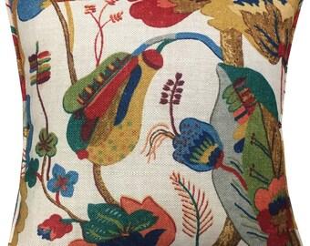 "GP & J Baker 'California' Linen Cushion Pillow Cover 18"" Natural Bright Colourway"