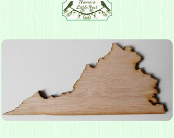 Virginia State (Medium) Wood Cut Out - Laser Cut