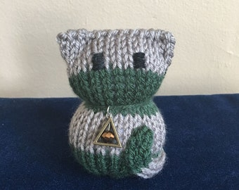 Green and Silver House Cat Plushie