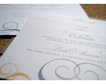 Sample Wedding Invitation Romantic Scroll