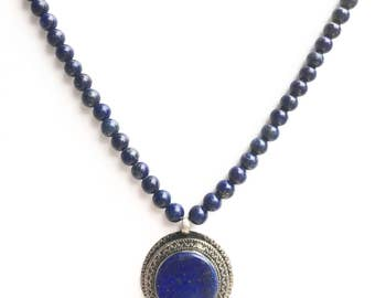 Lapis lazuli necklace / natural lapis pendant / natural gemstone / gift for mum / gift for grandmother