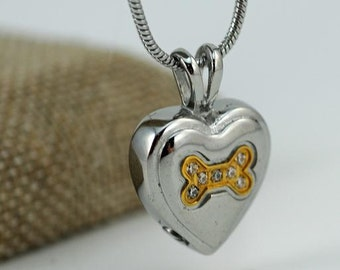 Necklace Urn for Pet Ashes and Rainbow Bridge Print #616 AW