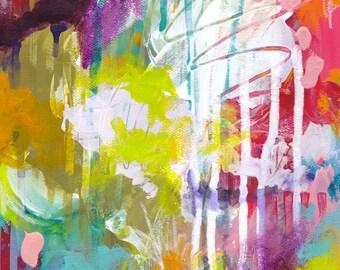 Abstract Art 8.5x11 Print / Colorful Wall Art