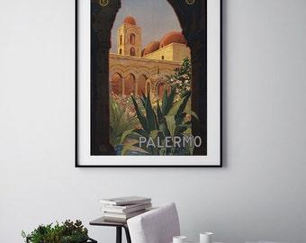 Palermo - Vintage Print - Italian Collection