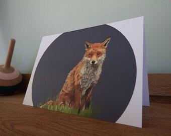 A6 Fox Greeting Card