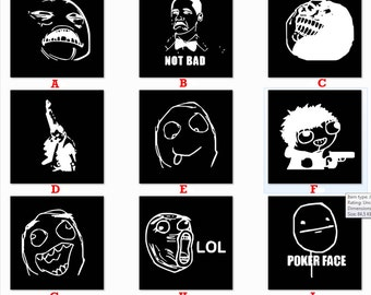 Assorted Internet Meme 4Chan Reddit Faces Decal Sticker FREE USA SHIPPING!