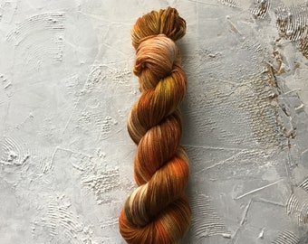 Hand Dyed Yarn - Fingering weight Yarn - OOAK 163  - merino