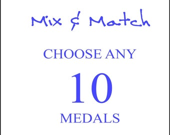 Mix and Match - Choose any 10 Religious Medals, Reduced Price and Shipping