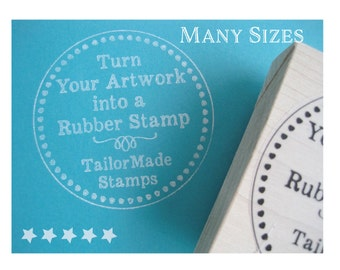 Custom Stamp, Logo Rubber Stamp, Shopping Bag Stamp, Wood Mounted