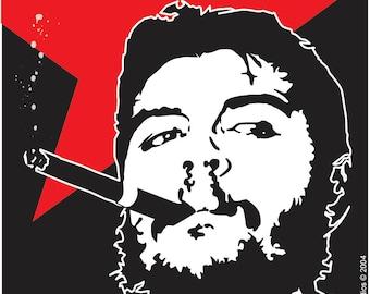 Che Guevara Latin icon revolutionary art magnet.