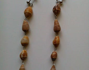 Shell and Silver earrings