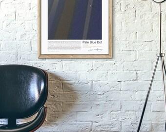 pale blue dot, carl sagan, poster pale blue dot, poster astronomy, carl sagan poster, science poster, human, planets poster, earth poster.