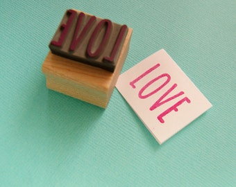 Skinny Love Sentiment Text Rubber Stamp - Love Stamper - Wedding Gift - DIY Wedding  - Handmade Wedding Invites - Valentines -