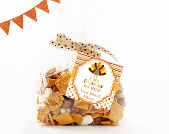 Thanksgiving Treat Tags,  Thanksgiving Labels,  Thanksgiving Tags,  Thanksgiving Sticker,  Thanksgiving Treat Bag Topper,  Thanksgiving
