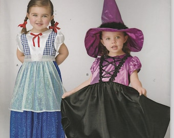 Swiss Dress Costume Pattern Witch Hat Uncut Girl Toddler Size 1/2 - 4 Simplicity 335 S0335