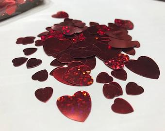 20 piece assorted Heart confetti mix, 10 - 20 mm (7)