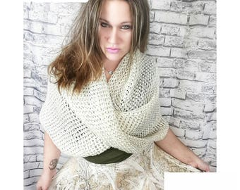 Crochet PATTERN | Woman's Wrap Pattern | Women's Twisted Wrap Crochet Pattern | Shawl Pattern | Easy Crochet Pattern for Women | PDF File