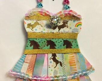 Unicorn Paper Dress. Limited!