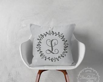 Monogram pillow decorative throw pillows cover monogrammed pillow pillow throw pillow monogrammed pillow cover