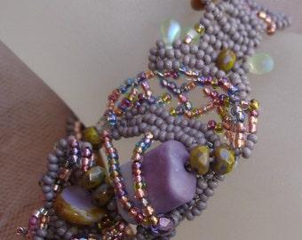 Spilt Wine Freeform Bracelet