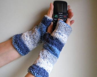Fingerless gloves, warmers, knitted