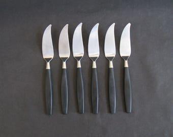 Set (6) Bertel Gardberg Flatware Fish Knives - Hackman, Finland 1958 HTF