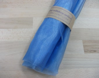 "1 metre of ice-blue organza - 54"" width"