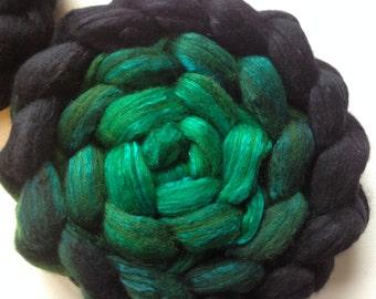 Wool Roving spinning or felting Esmerelda 3.5ozs gradient roving Pre-order
