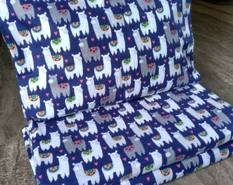 Llama Love Nap Mat Cover with Attached Pillowcase