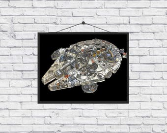 The Millennium Falcon Star Wars artwork poster